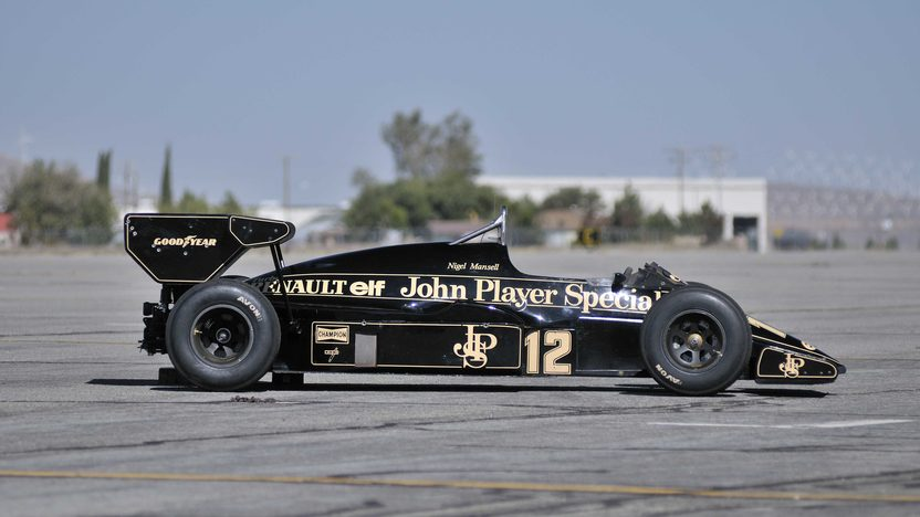 1984 Lotus Type 95T John Player Special Driven by Nigel Mansell presented as lot S138 at Monterey, CA 2013 - image2
