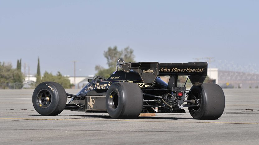 1984 Lotus Type 95T John Player Special Driven by Nigel Mansell presented as lot S138 at Monterey, CA 2013 - image3