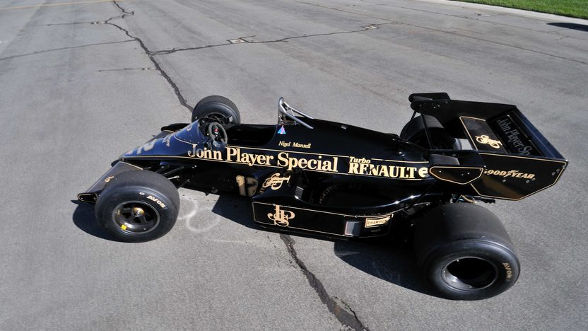 1984 Lotus Type 95T John Player Special Driven by Nigel Mansell presented as lot S138 at Monterey, CA 2013 - image8
