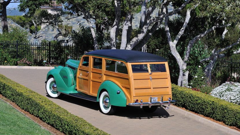 1940 Packard 120 Woody Station Wagon AACA Senior Award Winner presented as lot S140 at Monterey, CA 2013 - image3