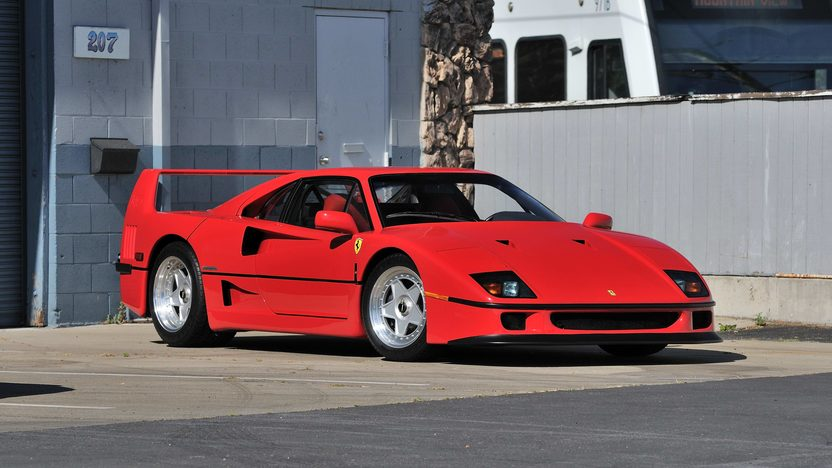 1990 ferrari f40 mecum monterey 2013 s141. Black Bedroom Furniture Sets. Home Design Ideas