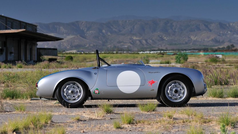 1955 Porsche 550/1500 RS Spyder Chassis No. 550-0077 presented as lot S134 at Monterey, CA 2013 - image2