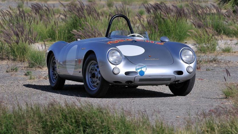 1955 Porsche 550/1500 RS Spyder Chassis No. 550-0077 presented as lot S134 at Monterey, CA 2013 - image3