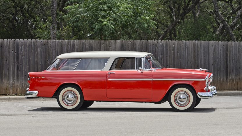 1955 Chevrolet Nomad Wagon 265 CI, Automatic presented as lot F146 at Monterey, CA 2013 - image12
