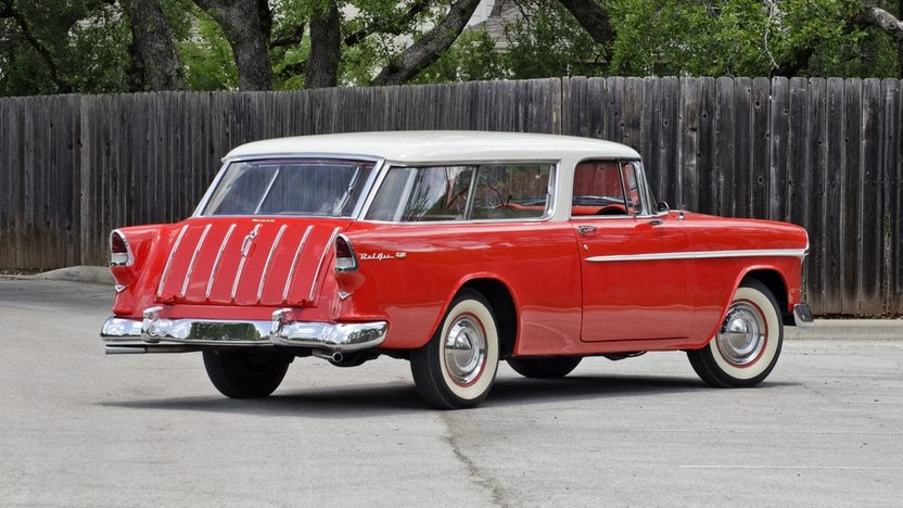 1955 Chevrolet Nomad Wagon 265 CI, Automatic presented as lot F146 at Monterey, CA 2013 - image2