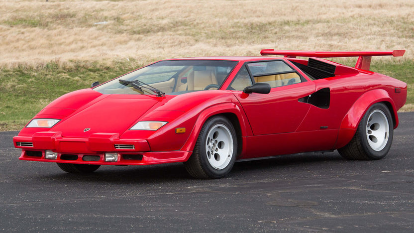 1986 lamborghini countach 5000 quattrovalvole mecum monterey 2016 r309. Black Bedroom Furniture Sets. Home Design Ideas