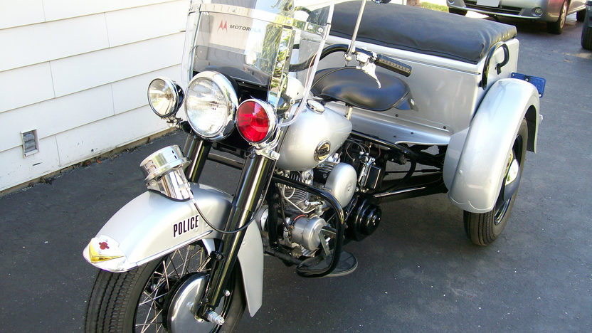 1958 Harley-Davidson G-Police Servi Car 750CC, 3-Speed presented as lot T44 at St. Charles, IL 2011 - image2