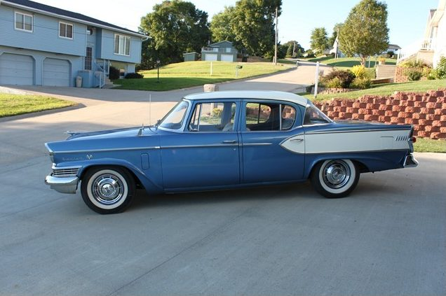 1957 Studebaker President Classic 4-Door 289/225 HP, 3-Speed presented as lot T282 at St. Charles, IL 2011 - image2