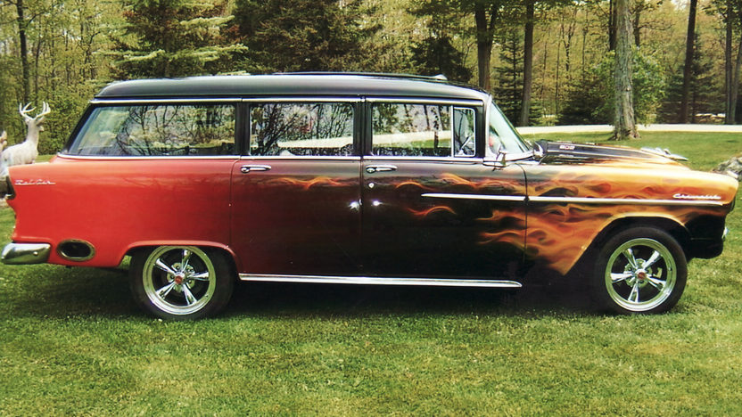 1955 Chevrolet Bel Air Station Wagon 502/502 HP, Automatic presented as lot T185 at St. Charles, IL 2011 - image12