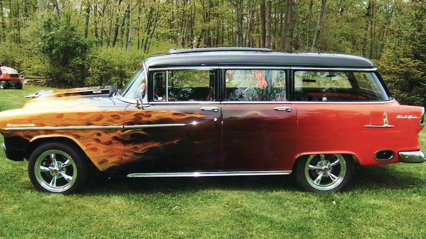 1955 Chevrolet Bel Air Station Wagon 502/502 HP, Automatic presented as lot T185 at St. Charles, IL 2011 - image2