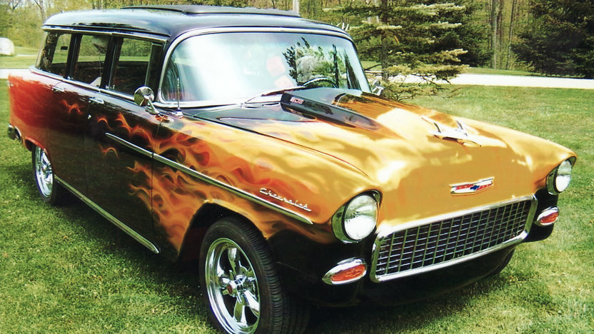 1955 Chevrolet Bel Air Station Wagon 502/502 HP, Automatic presented as lot T185 at St. Charles, IL 2011 - image5
