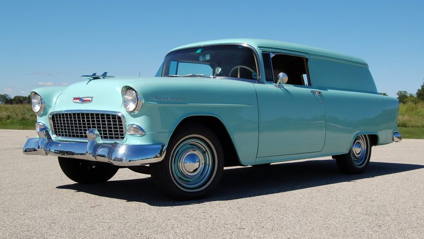 1955 Chevrolet Sedan Delivery presented as lot T206 at St. Charles, IL 2011 - image2