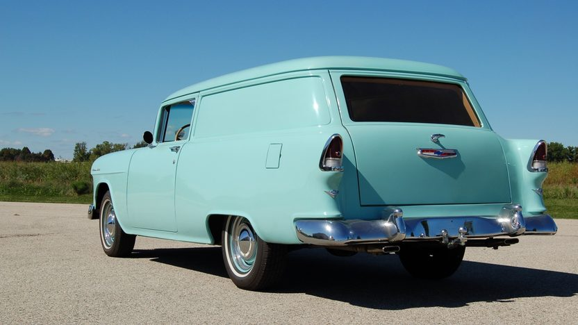 1955 Chevrolet Sedan Delivery presented as lot T206 at St. Charles, IL 2011 - image3