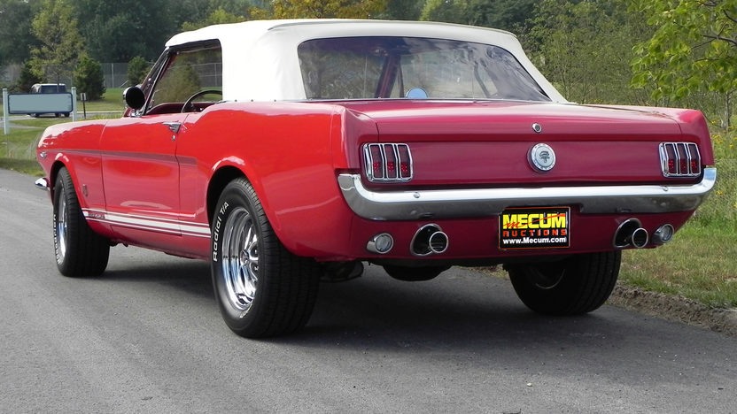 1965 Ford Mustang Convertible 289/225 HP, Automatic presented as lot F20 at St. Charles, IL 2011 - image3