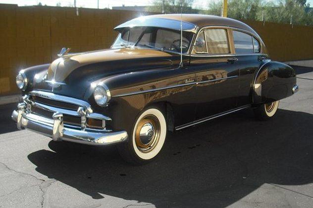 1949 Chevrolet Fleetline Deluxe 4-Door Sedan 216 CI, 3-Speed presented as lot F36 at St. Charles, IL 2011 - image3