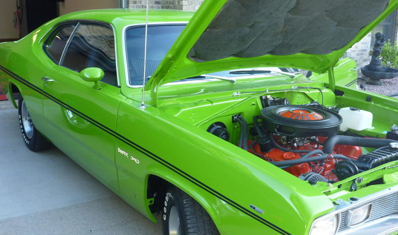 1970 Plymouth Duster 2-Door Hardtop 340/265 HP, 3-Speed presented as lot F92 at St. Charles, IL 2011 - image3
