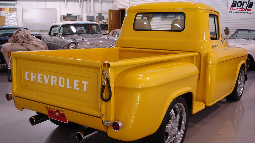 1957 Chevrolet Stepside Pickup 454 CI, Automatic presented as lot F182 at St. Charles, IL 2011 - image3