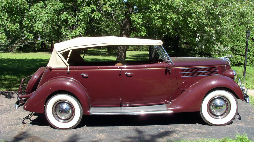 1936 Ford Phaeton 4-Door 221/85 HP, 3-Speed presented as lot F269 at St. Charles, IL 2011 - image2