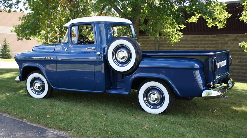 1956 Chevrolet 3100 Pickup 235 CI, 3-Speed presented as lot S37 at St. Charles, IL 2011 - image3