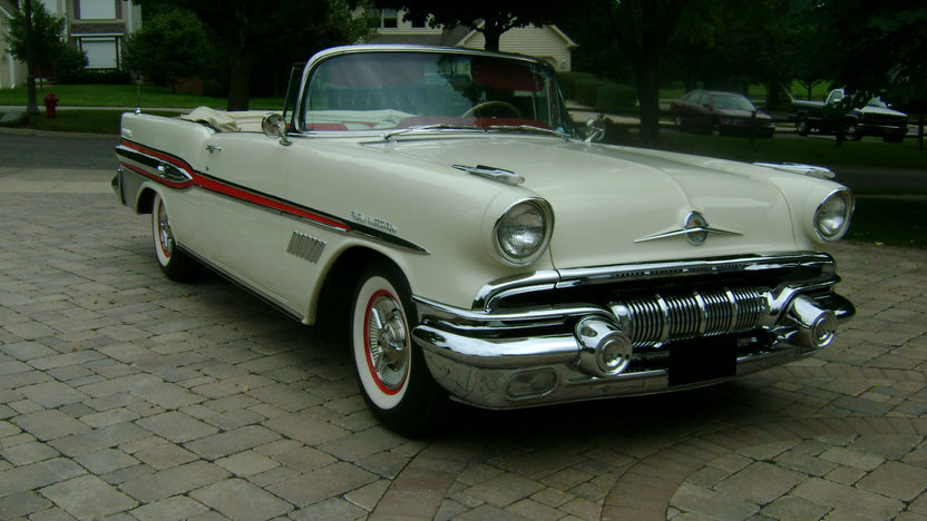 1957 Pontiac Bonneville Convertible 347/310 HP, Automatic presented as lot S124 at St. Charles, IL 2011 - image9