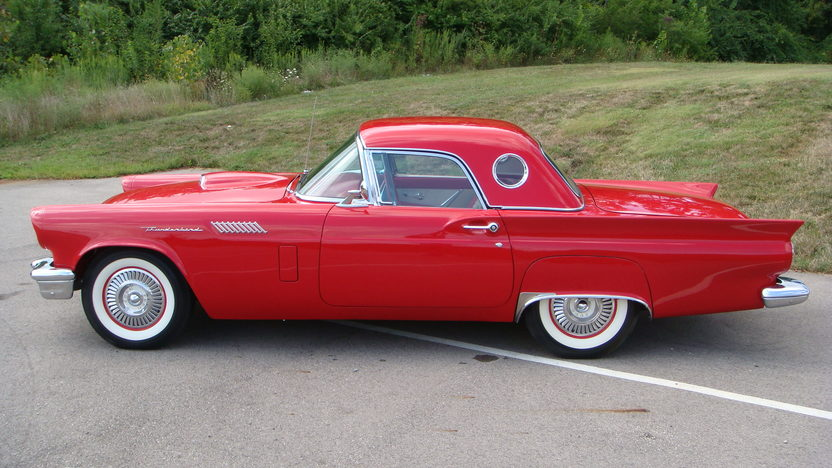 1957 Ford Thunderbird E Code 312/270 HP, Automatic presented as lot S145 at St. Charles, IL 2011 - image2
