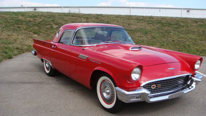 1957 Ford Thunderbird E Code 312/270 HP, Automatic presented as lot S145 at St. Charles, IL 2011 - image4