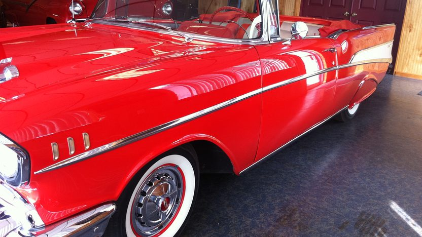 1957 Chevrolet Bel Air Convertible 283 CI, Automatic presented as lot S158 at St. Charles, IL 2011 - image2