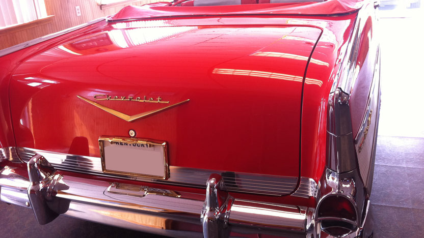 1957 Chevrolet Bel Air Convertible 283 CI, Automatic presented as lot S158 at St. Charles, IL 2011 - image3