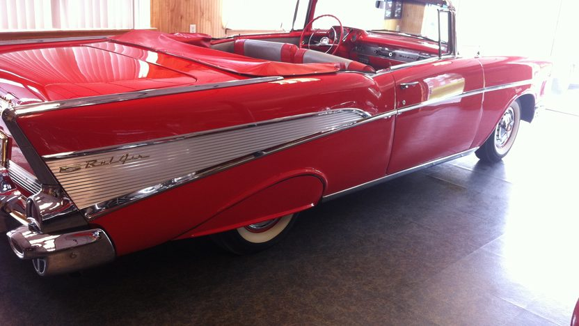 1957 Chevrolet Bel Air Convertible 283 CI, Automatic presented as lot S158 at St. Charles, IL 2011 - image5