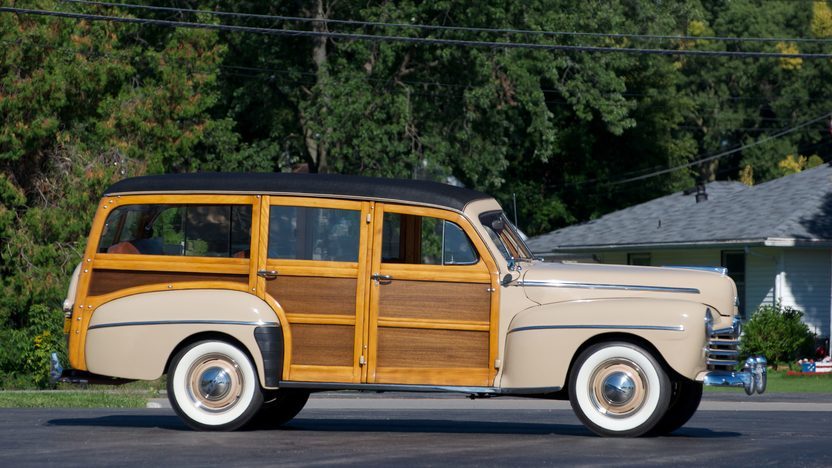 1948 Ford Woody Super Deluxe Station Wagon presented as lot S196 at St. Charles, IL 2011 - image2