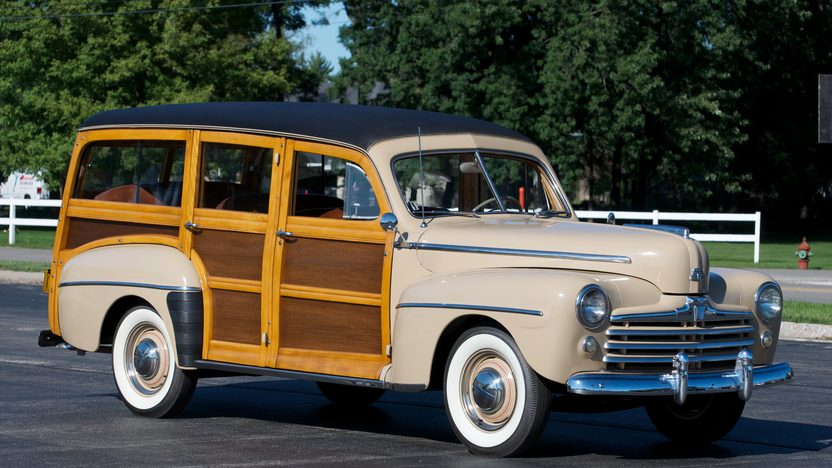 1948 Ford Woody Super Deluxe Station Wagon presented as lot S196 at St. Charles, IL 2011 - image3