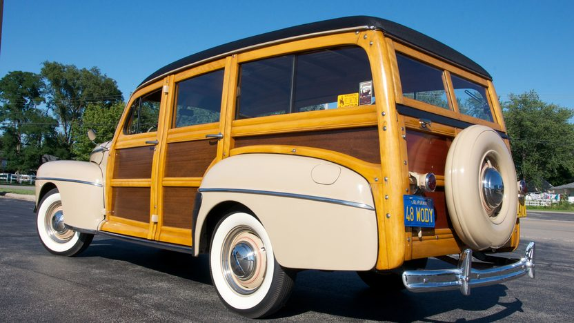 1948 Ford Woody Super Deluxe Station Wagon presented as lot S196 at St. Charles, IL 2011 - image8