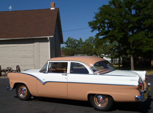 1955 Ford Fairlane 2-Door Sedan presented as lot S211 at St. Charles, IL 2011 - image2