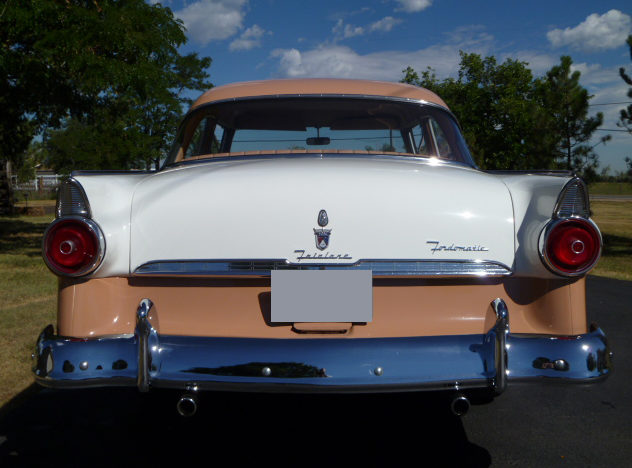 1955 Ford Fairlane 2-Door Sedan presented as lot S211 at St. Charles, IL 2011 - image3
