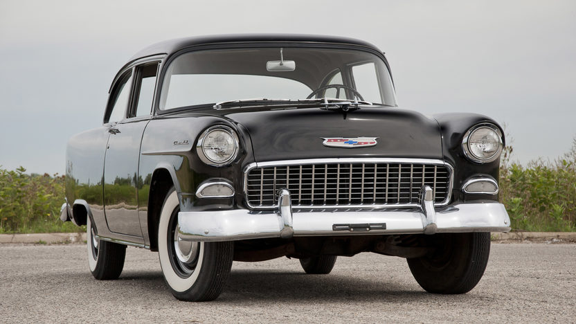 1955 Chevrolet 150 Utility Sedan 265 CI, 3-Speed presented as lot T198.1 at St. Charles, IL 2011 - image2