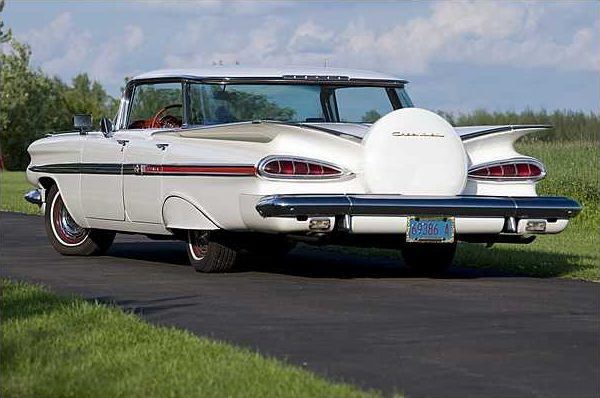 1959 Chevrolet Impala 4-Door Hardtop 283 CI, Automatic presented as lot T186 at St. Charles, IL 2010 - image2