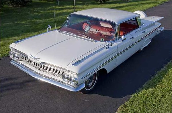 1959 Chevrolet Impala 4-Door Hardtop 283 CI, Automatic presented as lot T186 at St. Charles, IL 2010 - image3