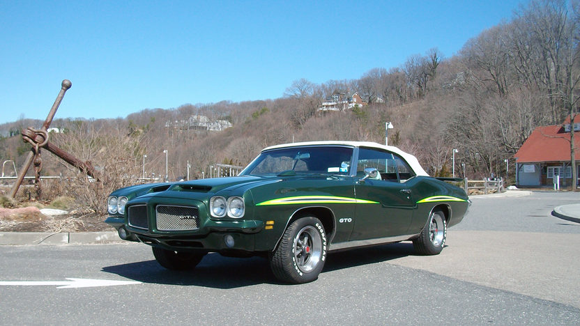 1971 Pontiac GTO Convertible 400 CI, 4-Speed presented as lot F110 at Schaumburg, IL 2013 - image7