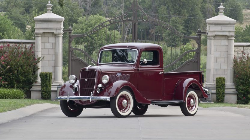 1935 Ford  Pickup Flathead V-8, Frame-off Restored presented as lot W18 at Dallas, TX 2012 - image9