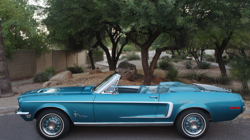 1968 Ford Mustang Convertible 289 CI, Automatic presented as lot F69 at Dallas, TX 2013 - image2