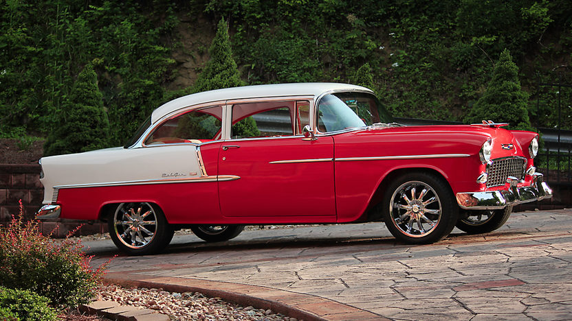 1955 Chevrolet Bel Air Sedan 468/600 HP, 4-Speed presented as lot F168 at Dallas, TX 2013 - image12