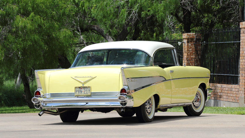 1957 Chevrolet Bel Air Hardtop 283 CI, Automatic presented as lot S109 at Dallas, TX 2013 - image3