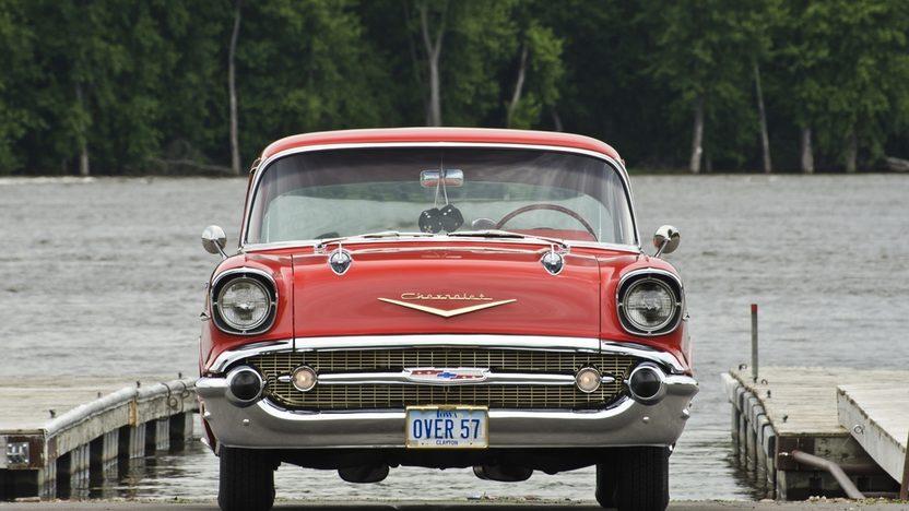 1957 Chevrolet Bel Air Hardtop presented as lot S157 at Dallas, TX 2013 - image8