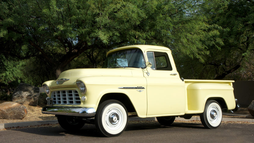1955 Chevrolet 3100 Pickup 265 CI, 4-Speed presented as lot S178 at Dallas, TX 2013 - image11