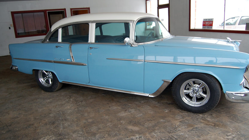 1955 Chevrolet Bel Air 4-Door Sedan 350 CI, Automatic presented as lot W152 at Kissimmee, FL 2013 - image6