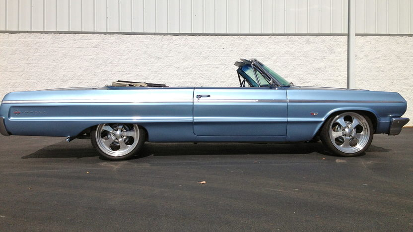 1964 Chevrolet Impala Convertible 327/325 HP, 20 Inch Wheels presented as lot W204 at Kissimmee, FL 2013 - image7