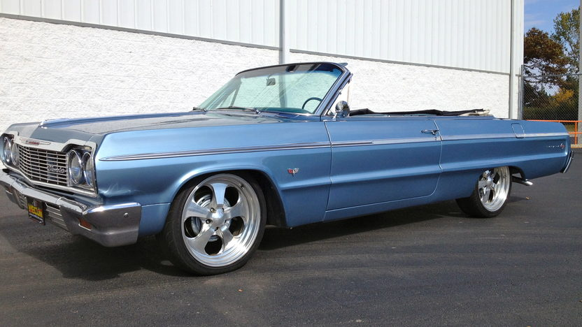 1964 Chevrolet Impala Convertible 327/325 HP, 20 Inch Wheels presented as lot W204 at Kissimmee, FL 2013 - image8