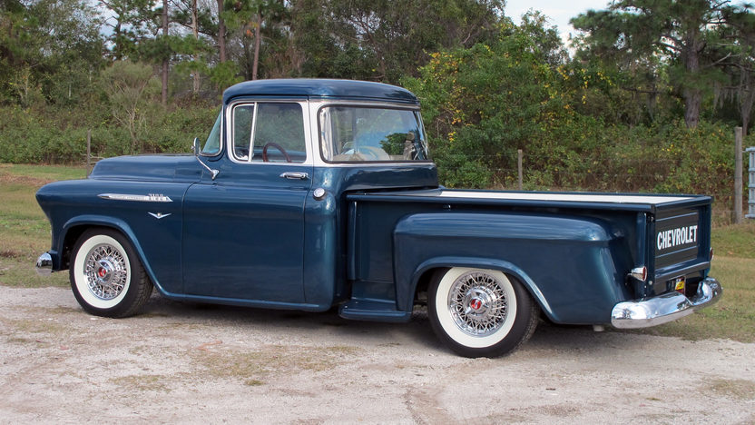 1957 Chevrolet Step Side Resto Mod Pickup LS1, Automatic presented as lot F22 at Kissimmee, FL 2013 - image7