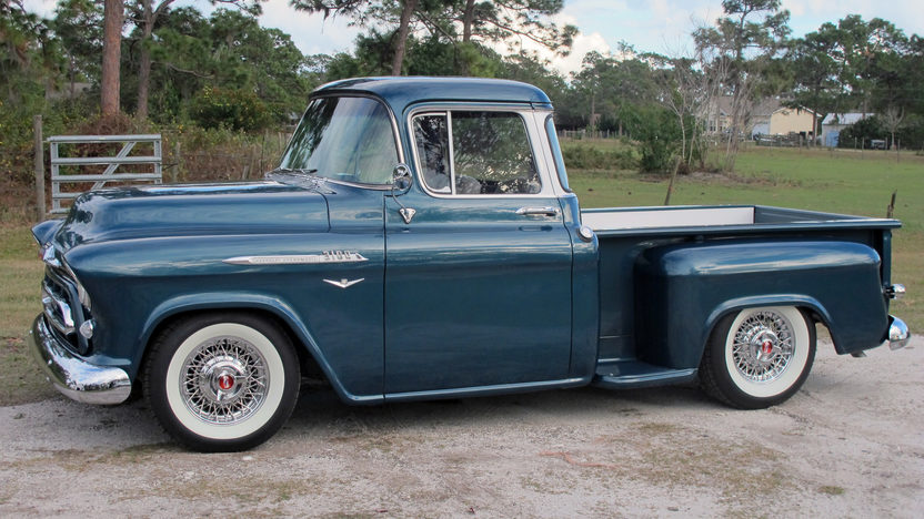 1957 Chevrolet Step Side Resto Mod Pickup LS1, Automatic presented as lot F22 at Kissimmee, FL 2013 - image8