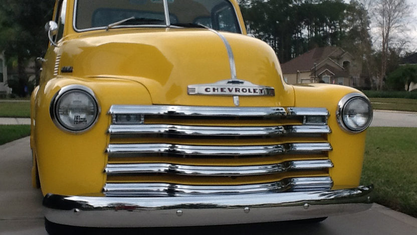 1949 Chevrolet 3100 Pickup 454/425 HP, 5 Window Cab presented as lot F113 at Kissimmee, FL 2013 - image9